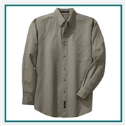 Port Authority Men's Long Sleeve Twill Shirt S600T with Custom Embroidery, Custom Logo Port Authority Shirts, Embroidered Port Authority Shirts, Embroidered Port Authority, Port Authority Embroidery