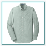 Port Authority Men's SuperPro Oxford Shirt with Custom Embroidery, Port Authority Custom Dress Shirts, Port Authority Custom Logo Apparel