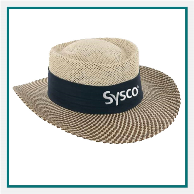 0ded58a1440 AHEAD Straw Hat Gambler with Custom Embroidery
