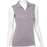 EP New York Sleeveless Space Dye Jacquard Polo 5451nda with Custom Embroidery, EP New York Co-Branded Polos