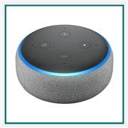Amazon Echo Dot 3rd Gen Heather Grey with Custom Logo, Amazon Branded Smart Speakers