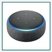 Amazon Echo Dot 3rd Gen Charcoal with Custom Logo, Amazon Co-Branded Smart Speakers