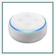 Amazon Echo Dot 3rd Gen Sandstone with Custom Logo, Amazon Branded Smart Speakers
