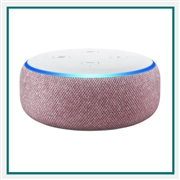 Amazon Echo Dot Plum Custom Logo