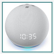 Amazon Echo Dot Clock 4th Gen White Custom Logo