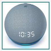 Amazon Echo Dot Clock 4th Gen Blue Custom Logo