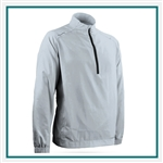 Sun Mountain Men's Brushed Solo LS Pullover with Custom Embroidery, Sun Mountain Custom Logo Second Layer Pullovers, Sun Mountain Corporate Apparel