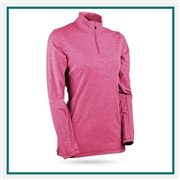 Sun Mountain Women's Second Layer Pullover with Custom Embroidery, Custom Sun Mountain Lightweight Pullovers, Sun Mountain Corporate Apparel