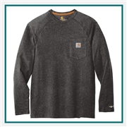 Carhartt Force Cotton Delmont Long Sleeve T-Shirt CT100393with Custom Silkscreened, Carhartt Custom Work T-Shirts, Carhartt Custom Logo Gear