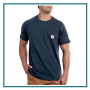 Carhartt Men's Force Cotton Delmont Short Sleeve T-Shirt CT100410 with Custom Embroidery, Carhartt Custom Work Branded T-Shirts