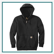Carhartt Men's Rain Defender Paxton Heavyweight Hooded Zip-Front Sweatshirt CT100614 with Custom Embroidery, Carhartt Custom Rain Sweatshirts, Carhartt Custom Logo Gear