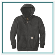 Carhartt Rain Defender Paxton Heavyweight Hooded Zip Mock Sweatshirt CT100614 with Custom Silkscreened, Carhartt Custom Rain Sweatshirts, Carhartt Custom Logo Gear