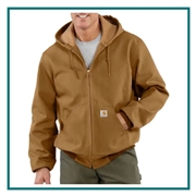 Carhartt Men's Thermal-Lined Duck Active Jac CTJ131 with Custom Embroidery, Carhartt Custom Thermal-Lined Jackets, Carhartt Custom Logo Gear