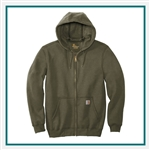 Carhartt Men's Midweight Hooded Zip-Front Sweatshirt CTK122 with Custom Silkscreened, Carhartt Custom Rain Sweatshirts, Carhartt Custom Logo Gear