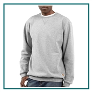 Carhartt Men's Midweight Crewneck Sweatshirt CTK124 with Custom Embroidery, Carhartt Custom Work Sweatshirts, Carhartt Corporate Sales
