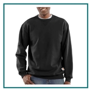 Carhartt Men's Midweight Crewneck Sweatshirt CTK124 with Custom Silkscreened, Carhartt Custom Work Sweatshirts, Carhartt Custom Workwear