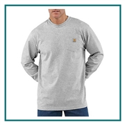 Carhartt Men's Workwear Pocket Long Sleeve T-Shirt CTK126 with Custom Silkscreened, Carhartt Custom Work T-Shirts, Carhartt Custom Logo Gear