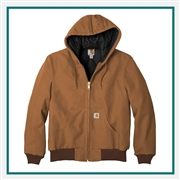 Carhartt Men's Quilted-Flannel-Lined Duck Active Jacket CTSJ140 with Custom Embroidery, Carhartt Custom Workwear Jackets, Carhartt Custom Logo Gear