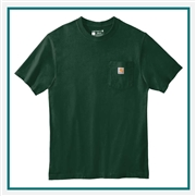 Carhartt Men's Tall Workwear Pocket Short Sleeve T-Shirt CTTK87 with Custom Embroidery, Carhartt Custom Work T-Shirts, Carhartt Custom Logo Gear