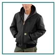 Carhartt Men's Tall Quilted-Flannel-Lined Duck Active Jac CTTSJ140 with Custom Embroidery, Carhartt Custom Quilted Jackets, Carhartt Custom Logo Gear