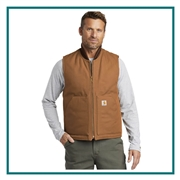 Carhartt Men's Duck Vest CTV01 with Custom Embroidery, Carhartt Custom Insulated Vests, Carhartt Custom Logo Gear