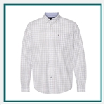 Tommy Hilfiger Men's Long Sleeve Plaid Shirt with Custom Embroidery, Tommy Hilfiger Custom Dress Shirts, Tommy Hilfiger Custom Logo Apparel