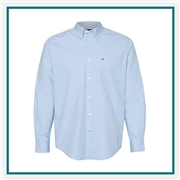 Tommy Hilfiger Men's Capote End-on-End Chambray Shirt with Custom Embroidery, Tommy Hilfiger Custom Dress Shirts, Tommy Hilfiger Custom Logo Apparel