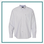 Tommy Hilfiger Men's New England Solid Oxford Shirt with Custom Embroidery, Tommy Hilfiger Custom Dress Shirts, Tommy Hilfiger Custom Logo Apparel