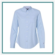 Tommy Hilfiger Women's Capote End-on-End Chambray Shirt with Custom Embroidery, Tommy Hilfiger Custom Dress Shirts, Tommy Hilfiger Custom Logo Apparel