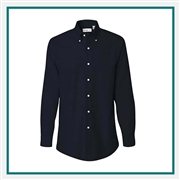 Van Heusen Men's Long Sleeve Oxford Shirt with Custom Embroidery, Van Heusen Custom Dress Shirts, Van Heusen Custom Logo Apparel
