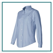 Van Heusen Women's Pinpoint Oxford Shirt with Custom Embroidery, Van Heusen Custom Dress Shirts, Van Heusen Custom Logo Apparel