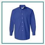 Van Heusen Men's Silky Poplin Shirt with Custom Embroidery, Van Heusen Custom Dress Shirts, Van Heusen Custom Logo Apparel