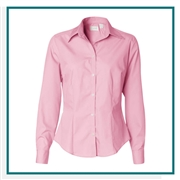 Van Heusen Women's Silky Poplin Shirt  with Custom Embroidery, Van Heusen Custom Dress Shirts, Van Heusen Custom Logo Apparel
