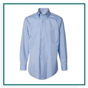 Van Heusen Men's Non-Iron Pinpoint Oxford Shirt with Custom Embroidery, Van Heusen Custom Dress Shirts, Van Heusen Custom Logo Apparel