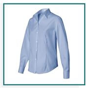 Van Heusen Women's Non-Iron Pinpoint Oxford Shirt with Custom Embroidery, Van Heusen Custom Dress Shirts, Van Heusen Custom Logo Apparel