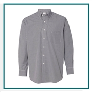 Van Heusen Men's Gingham Check Shirt with Custom Embroidery, Van Heusen Custom Dress Shirts, Van Heusen Corporate & Group Sales