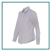 Van Heusen Women's Gingham Check Shirt with Custom Embroidery, Van Heusen Custom Dress Shirts, Van Heusen Custom Logo Apparel