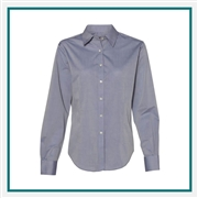 Van Heusen Women's Chambray Spread Collar Shirt with Custom Embroidery, Van Heusen Custom Dress Shirts, Van Heusen Custom Logo Apparel