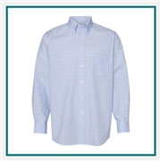 Van Heusen Men's Blue Suitings Non-Iron Patterned Shirt with Custom Embroidery, Van Heusen Branded Dress Shirts, Van Heusen Corporate Apparel
