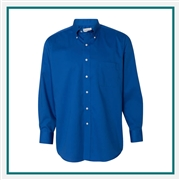 Van Heusen Men's Long Sleeve Baby Twill Shirt with Custom Embroidery, Van Heusen Custom Dress Shirts, Van Heusen Custom Logo Apparel