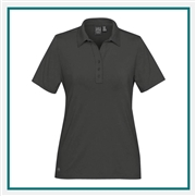 Stormtech Women's Solstice Performance Polo IPZ-5W  with Custom Embroidery, Stormtech Custom Polo shirts, Embroidered Stormtech polos