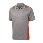 Sport Tek Heather Colorblock Polo Custom