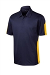 Sport-Tek Men's PosiCharge Active Textured Colorblock Polo ST695 with Custom Embroidery, Sport-Tek ST695 Custom Embroidered, Sport-Tek ST695 Custom Logo, Promotional Sport-Tek Polo Shirts
