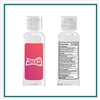 Custom Logo 2 Oz. Antibacterial Hand Sanitizer Gel w/ Flip Cap