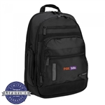 "Targus 15.6"" Revolution Checkpoint-Friendly Backpack TEB005US Embroidery"