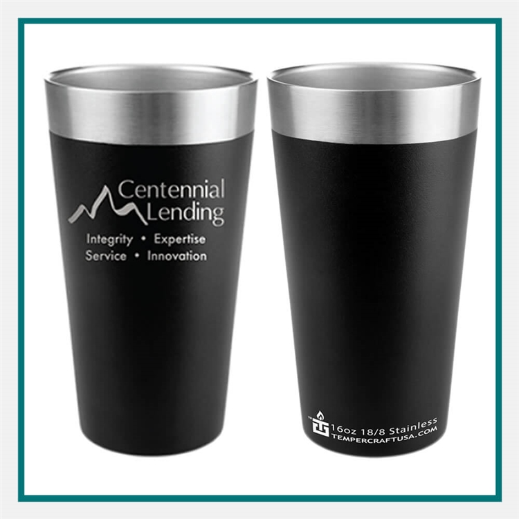 Tempercraft 16 Oz. Pint QBM16 Custom Engraved