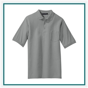 Port Authority Men's Tall Silk Touch Polo with Pocket TLK500P with Custom Embroidery, Custom Logo Port Authority Polos, Embroidered Port Authority Polos, Embroidered Port Authority, Port Authority Embroidery