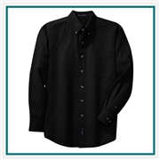 Port Authority Men's Tall Long Sleeve Twill Shirt TLS600T with Custom Embroidery, Custom Logo Port Authority Shirts, Embroidered Port Authority Shirts, Embroidered Port Authority, Port Authority Embroidery