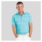 Puma Golf Men's Golf Barcode Stripe Polo with Custom Embroidery, Puma Promotional Golf Polos, Puma Golf Corporate Sales