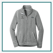 The North Face Ladies Sweater Fleece Jacket with Custom Embroidery, The North Face Custom Jackets, The North Face Custom Logo Gear